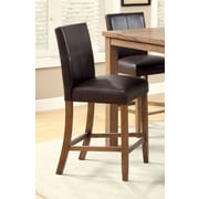 Hokku Designs Corzovan Counter Height Chair (Set of 2); Espresso Leatherette