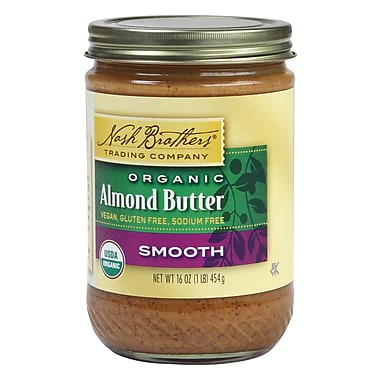 Nash Brothers Organic Butter Almond 16 Oz., 12/Pack