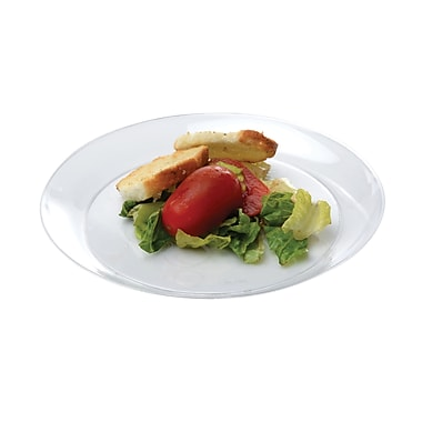 Savvi Serve Recyclable Plastic Clear Plastic Plate 6in.