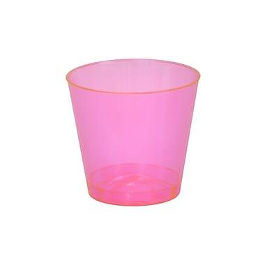 Savvi Serve Plastic Red Neon Tumbler Shot Glass 2 Oz.