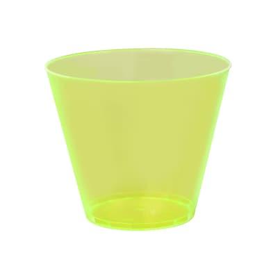 Savvi Serve Plastic quat Neon Yellow Hard Plastic Tumbler 9 Oz. 1023535