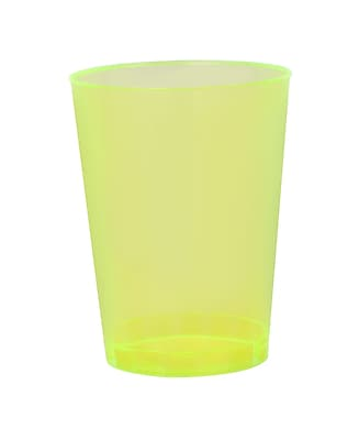 Savvi Serve Plastic Yellow Neon Tumbler 10 Oz. 1023524