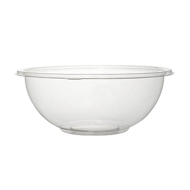 Super Bowl Plastic Clear Salad Bowl 50/Set 48 Oz.