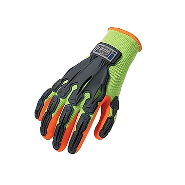 Ergodyne® ProFlex® 921 Thermal Rubber-Dipped Dorsal Impact-Reducing Gloves, Lime, Large