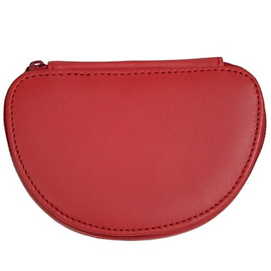 Royce Leather – Mini coffret à bijoux, rouge, estampage argenté, nom complet