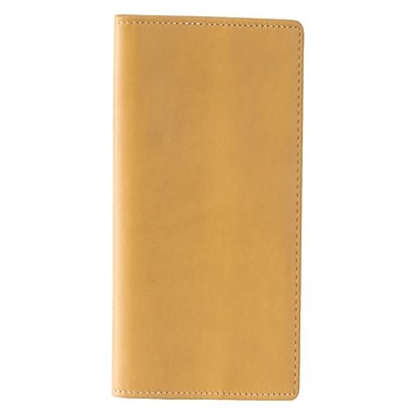 Royce Leather International Expanded Travel Document Case, Tan, Gold Foil Stamping, Full Name