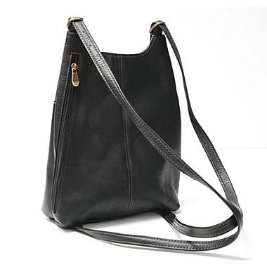Royce Leather – Sac à dos à courroies en cuir Vaquetta, noir