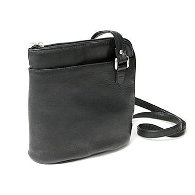 Royce Leather – Porte-tablettes à fermeture à glissière tout autour en cuir