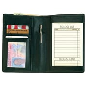 Royce Leather 'Things To Do' Note Jotter and Passport Wallet, Black