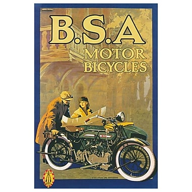 B.S.A. Motor Bicycles, Stretched Canvas, 24