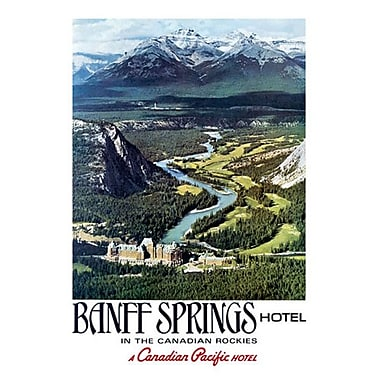 Canadian Pacific : Banff in the Canadian Rockies I, toile tendue, 24 x 36 po