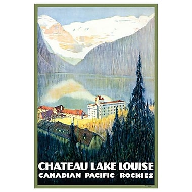 Canadian Pacific : Chateau Lake Louise, toile tendue, 24 x 36 po