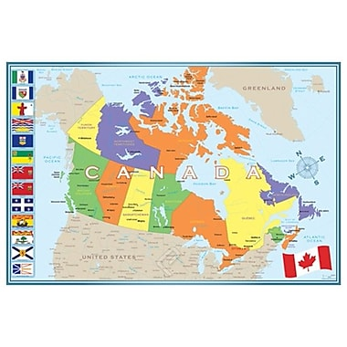 Map of Canada, Stretched Canvas, 24