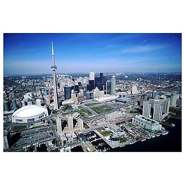 Ligne d'horizon de Toronto, toile tendue, 24 x 36 po
