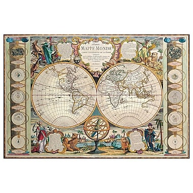 Mappe Monde, Stretched Canvas, 24