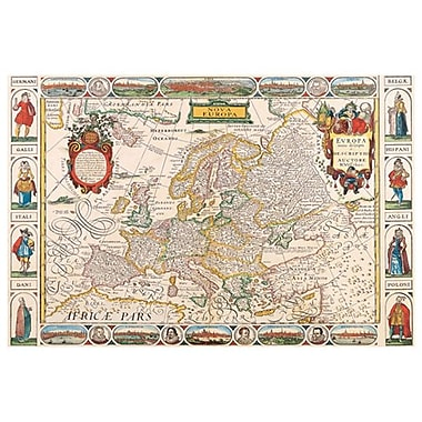 Map - Nova Europa, Stretched Canvas, 24