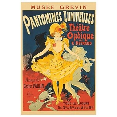 Pantomimes Lumineuses de Cheret, toile, 24 x 36 po
