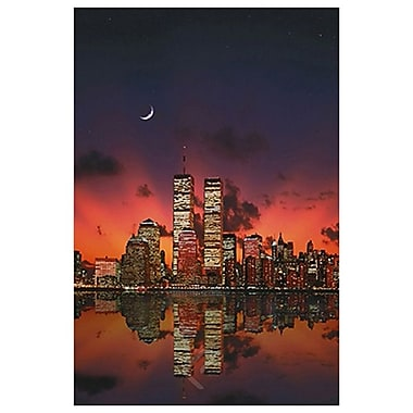 New York Skyline at Night, Stretched Canvas, 24