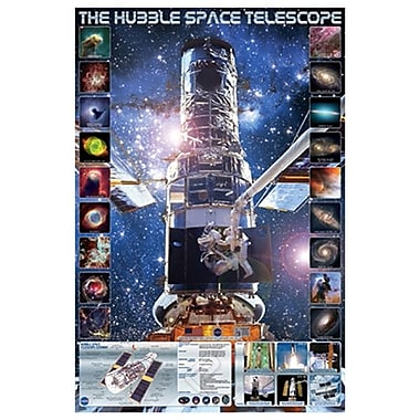 Hubble Telescope, Stretched, Canvas, 24