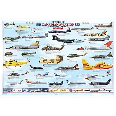 Ère moderne de l'aviation canadienne, toile, 24 x 36 po