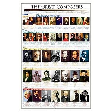 Les grands compositeurs, toile tendue, 24 x 36 po