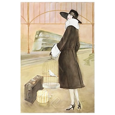 Lady Train Station de Reynolds, toile, 24 x 36 po