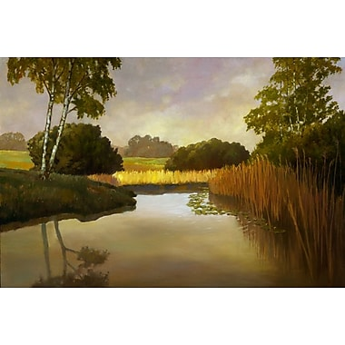 Reeds Birchs and Water I by Reynolds, Canvas, 24