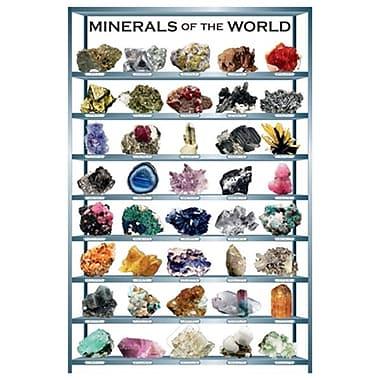 Minéraux du monde, toile tendue, 24 x 36 po