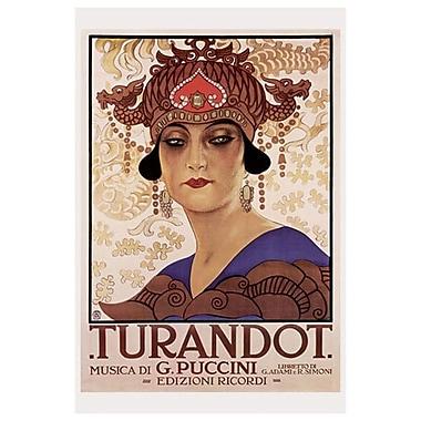 Turandot, musica di Puccini, toile tendue, 24 x 36 po