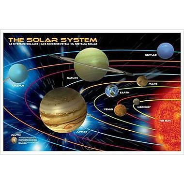 Le système solaire pour les enfants, toile tendue, 24 x 36 po