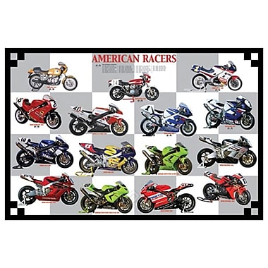 Road Racers, toile tendue, 24 x 36 po