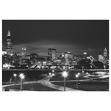 Chicago (black & white), Stretched Canvas, 24