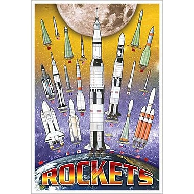 Rockets for Kids, Stretched Canvas, 24