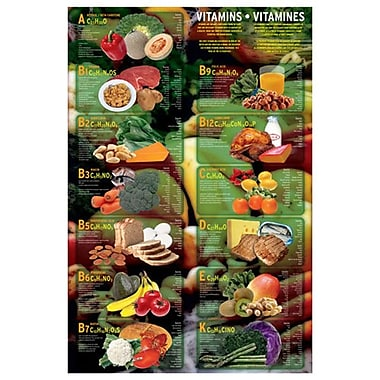 Vitamines, toile tendue, 24 x 36 po