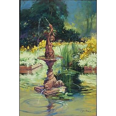 La Fontana de Pollard, toile, 24 x 36 po