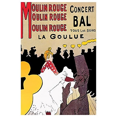 Moulin Rouge by Toulouse-Lautrec, Theatre and Opera, Canvas, 24