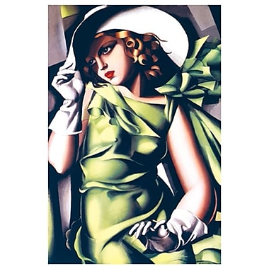 Young girl de Lempicka, toile, 24 x 36 po