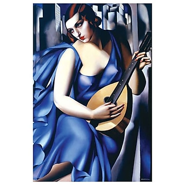 Woman Blue Guitar by Lempicka, Canvas, 24