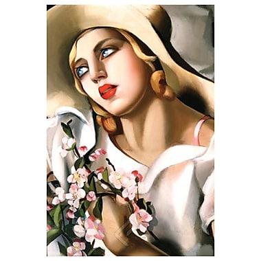 Portrait of Girl de Lempicka, toile, 24 x 36 po