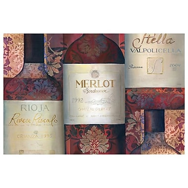 Red Wine Selection de Montillio, toile, 24 x 36 po