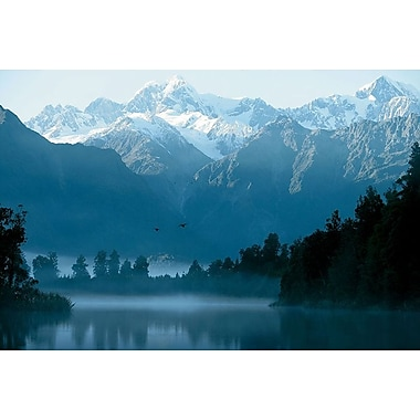 Lake Matheson South Island, Stretched Canvas, 24
