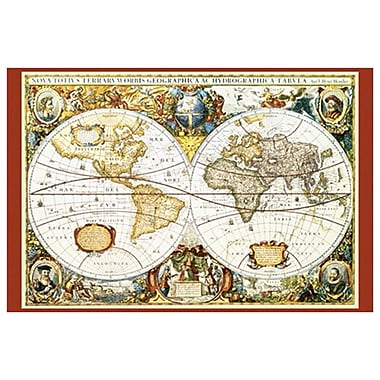 Map of the World III, Stretched Canvas, 24