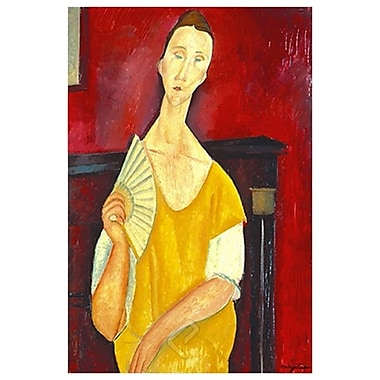 Woman with a Fan by Modigliani, Canvas, 24