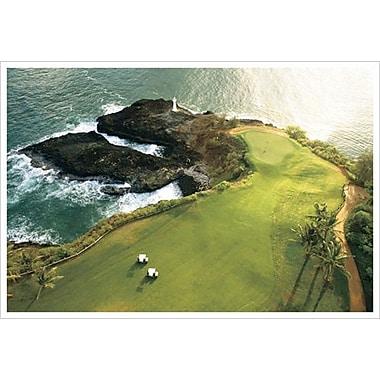 Terrain de golf de la côte d'Hawaï, toile tendue, 24 x 36 po