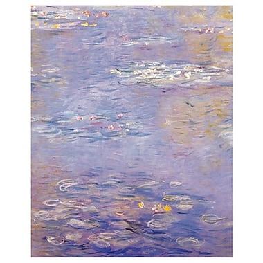Nymphéas (mauve) de Monet, toile, 24 x 36 po