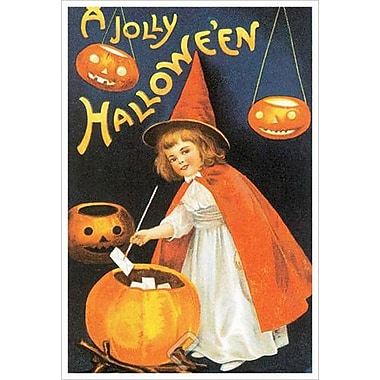A Jolly Halloween de Clapsaddle, toile, 24 x 36 po