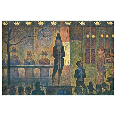 Circus Sideshow by Seurat, Canvas, 24