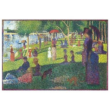Un dimanche après-midi à l'Île de la Grande Jatte de Seurat, toile, 24 x 36 po