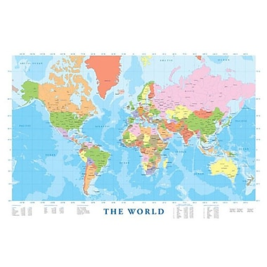 Map of the World, Canvas, 24