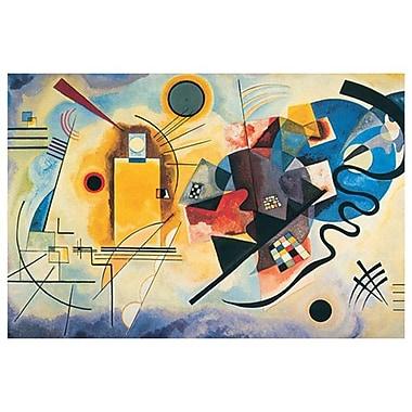 Jaune-Rouge-Bleu de Kandinsky, toile, 24 x 36 po